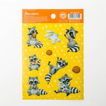 "Stickers ""Cute raccoons"" (11 × 16 cm)"