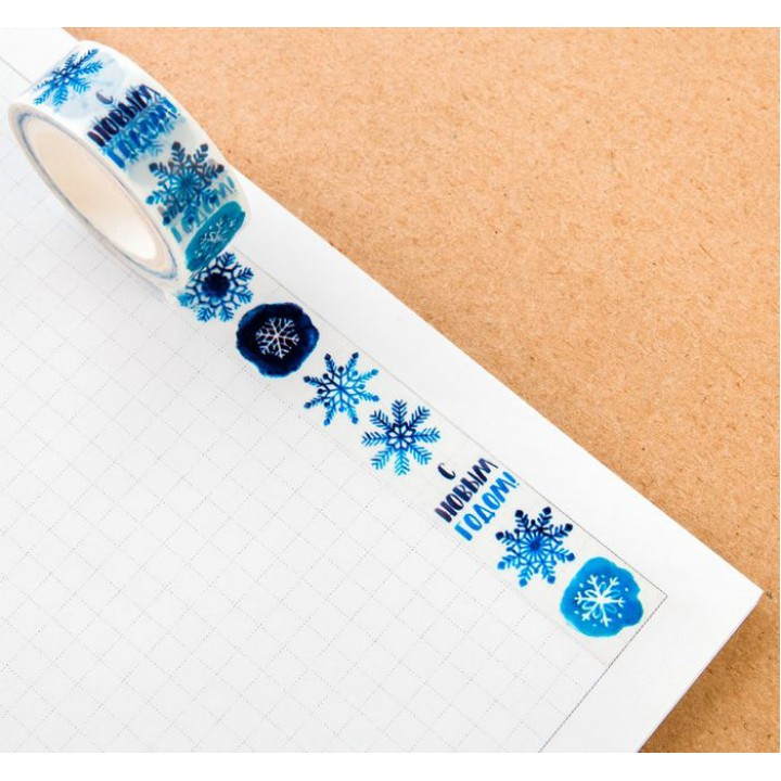 "Tape ""Wonderful snowflakes"" (width 1.5 сm)"