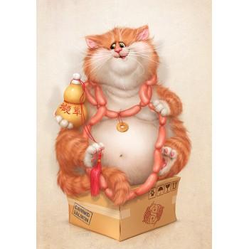 Cat with valerian wine
