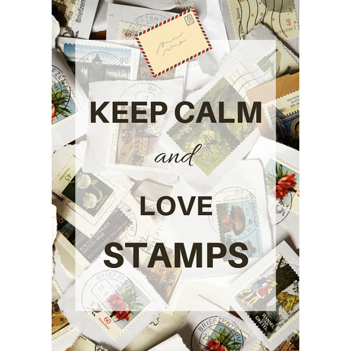 Keep calm and love stamps