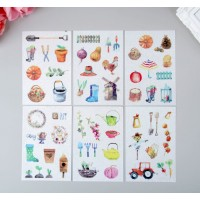 "Stickers ""Garden"", 6 sheets (10 × 15 cm)"