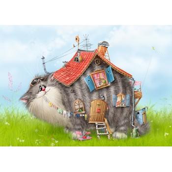 Cat - house