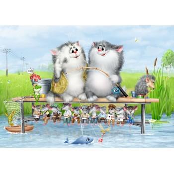 Cats - fishermen