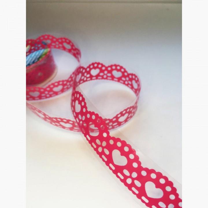 Tape-lace Fuchsia (random pattern, width 1.8 cm)