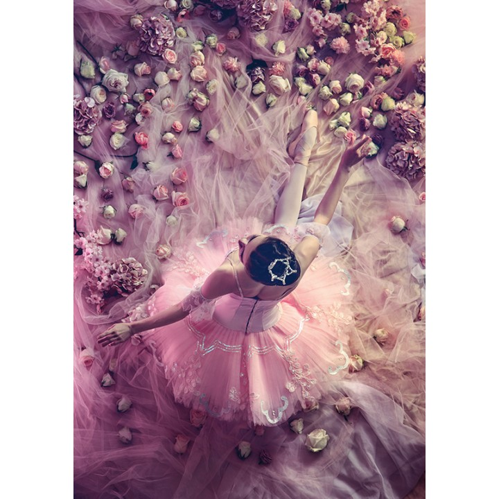 Ballerina and flowers