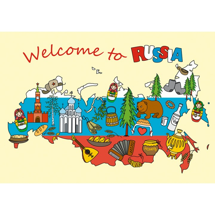 Map Welcome to Russia