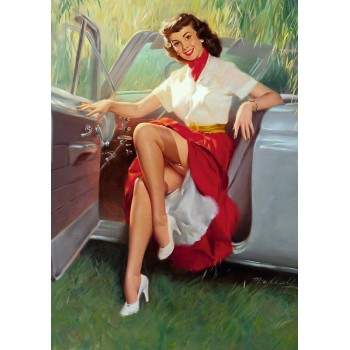 Pin Up. Car