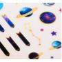 "Plastic stickers ""Space"" (10 × 16 сm)"