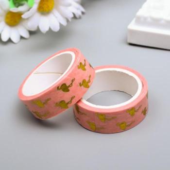 "Paper tape ""Golden flamingo"" (width 1.5 сm)"
