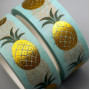 "Paper tape ""Golden pineapple"" (width 1.5 сm)"