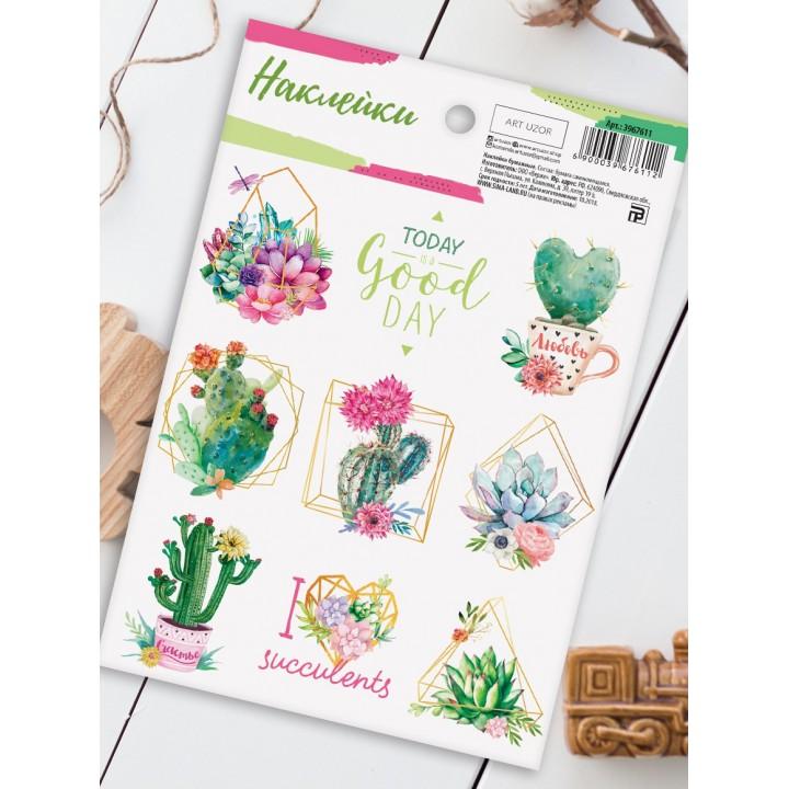 """Stickers """"Succulents"""" (11 × 16 cm)"""