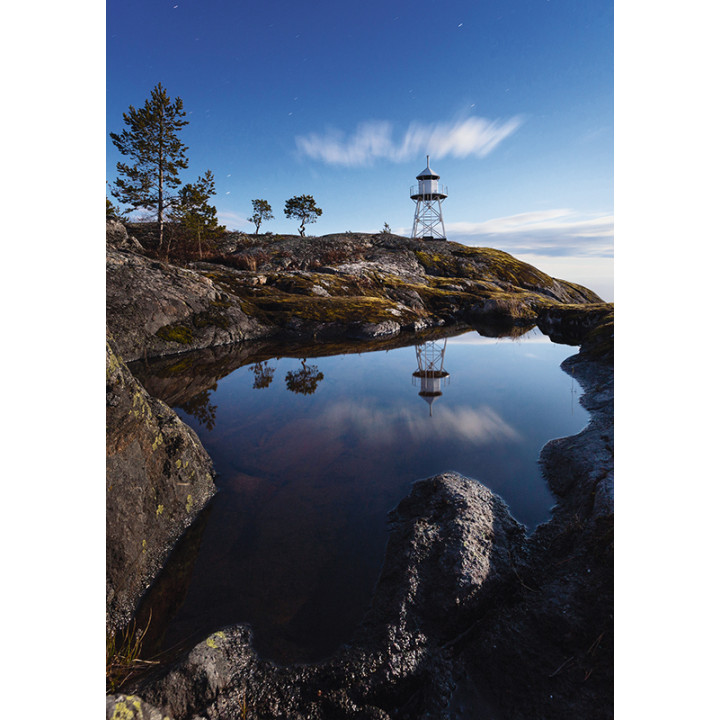 Kurkiniemi lighthouse, Ladoga lake