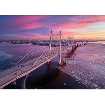 Bridge across the Korabelny fairway, St. Petersburg