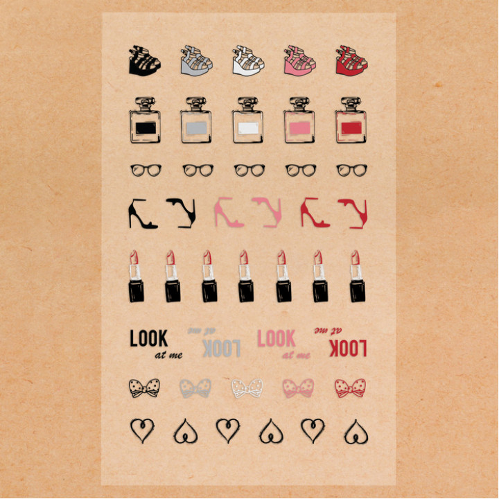 "Stickers ""Fashion"" (10 × 16 cm)"