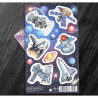 "Stickers ""Spaceships"" (10 × 15 cm)"
