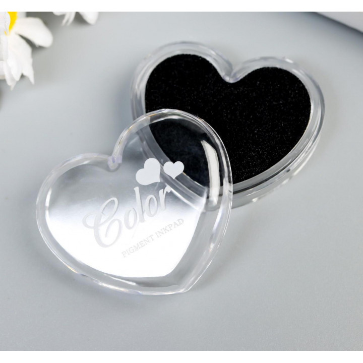"Stamp pad ""Black heart"""