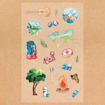 """Stickers """"Camping"""" (10 × 16 cm)"""