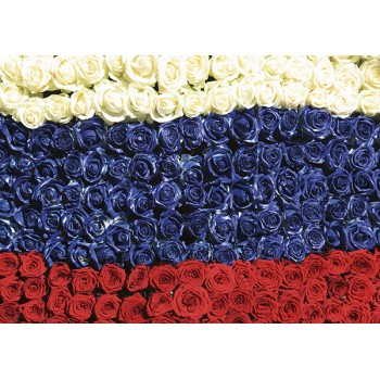 Russian flowers flag