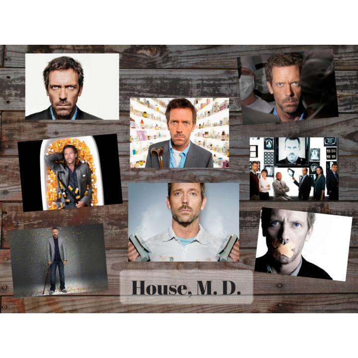House, M. D. (8 postcards, 14.5*10 cm)