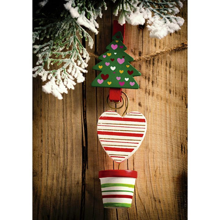 Christmas clothespin