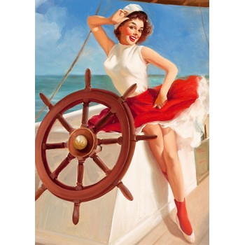 Pin Up. At the helm