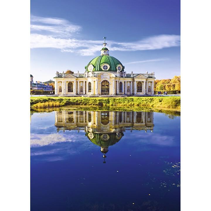 Grotto pavilion in the park. Kuskovo