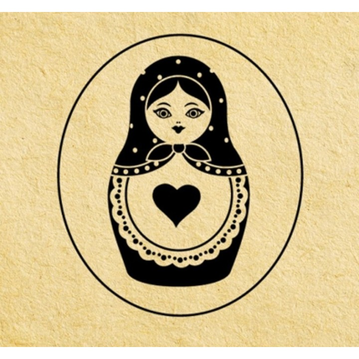 Stamp Russian doll (d=40 mm)