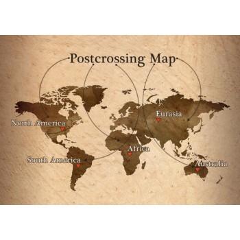 Postcrossing Map