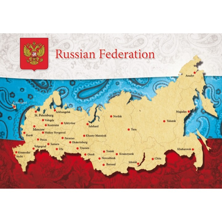 Map of Russia (flag)