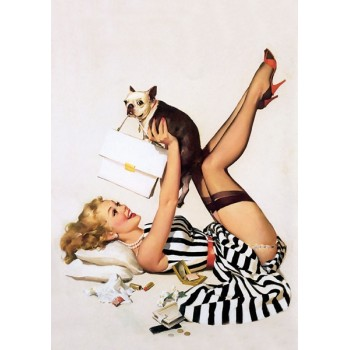 Pin Up. With dogs.