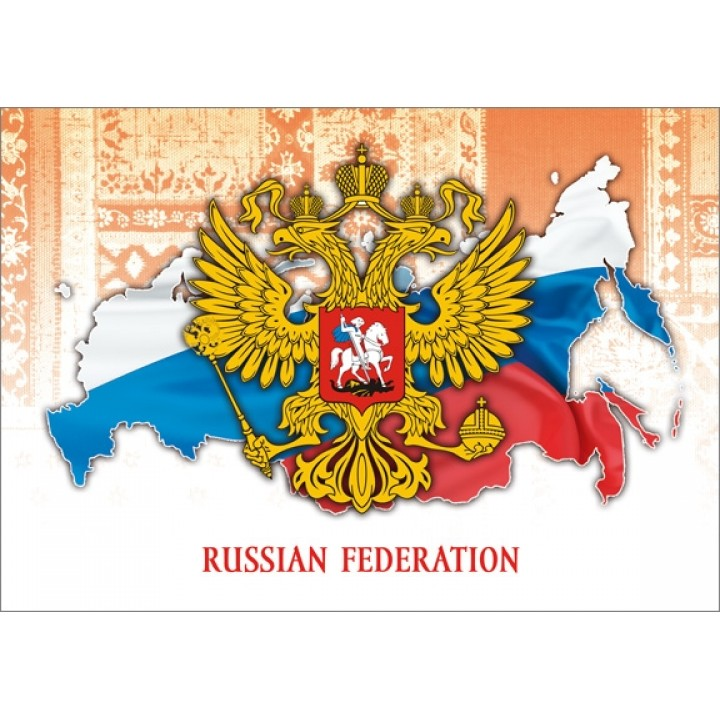 Map of Russia with the emblem