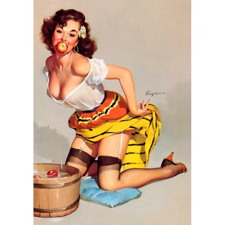Pin up. Apples.