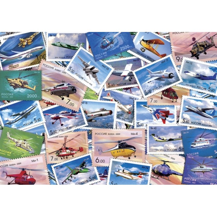 Postcard-collage Aviation