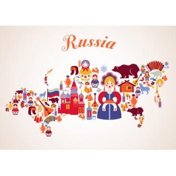 Map of Russia (symbols)