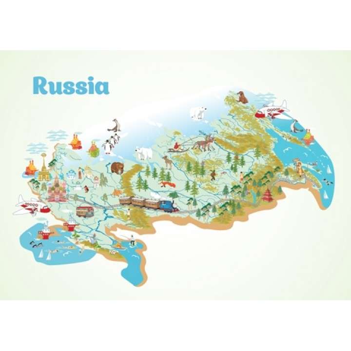 Map. Russia.